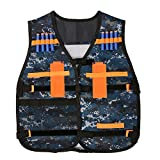 Pinksee Kid's Adjustable Tactical Vest with Storage Pockets for Nerf N-Strike Elite Team Toy (Camouflage)