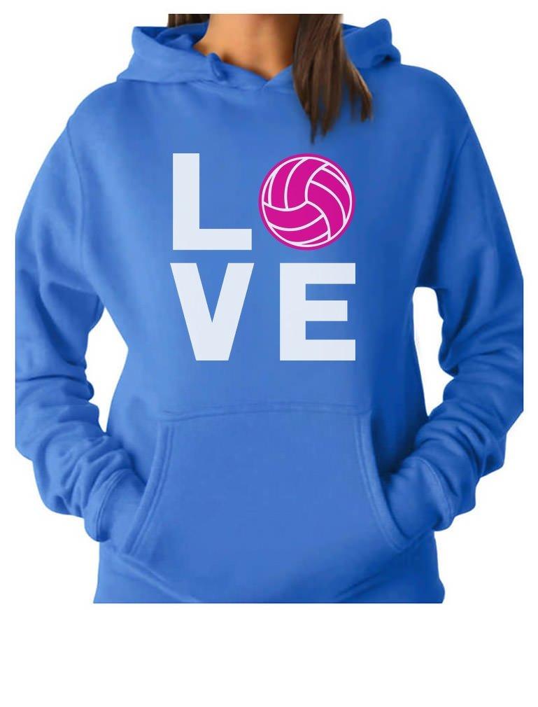 Tstars TeeStars - Love Volleyball - Best Gift Idea For Volleyball Lovers Women Hoodie Large California Blue