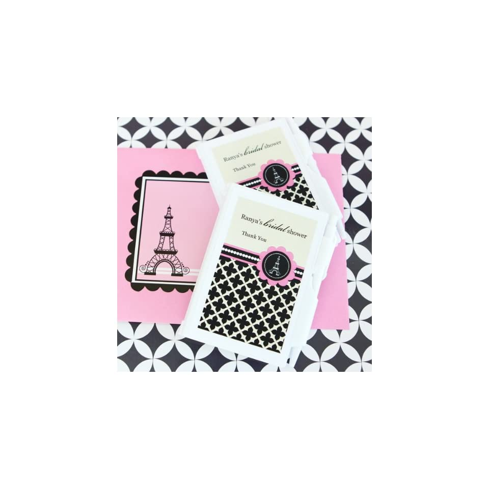 96PC EB2023PP Personalized Notebook Favors Parisian Party Wedding Baby Shower Fa