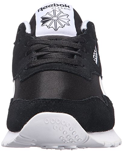Reebok Mens Kunglig Nylon Klassiskt Mode Sneaker Svart / Svart / Vit