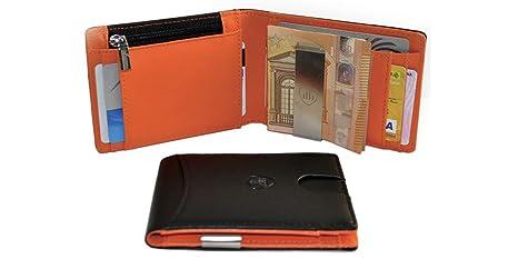 785230c353 Portafoglio Uomo BRuS Portafoglio RFID, Portafoglio Uomo Piccolo Sottile  Con Fermasoldi, Porta Carte Di