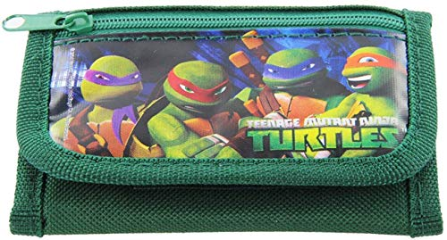 Ninja Turtles Green Trifold Wallet