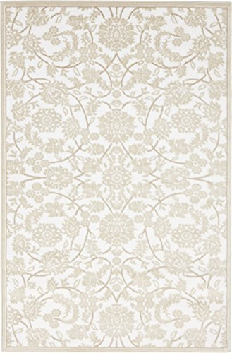 Vintage Snow White (Modern Vintage Inspired Area Rugs Snow White 4' x 6' FT Himalaya Collection Rug - rugs for living room - rugs for dining room & bedroom - Floor Carpet)