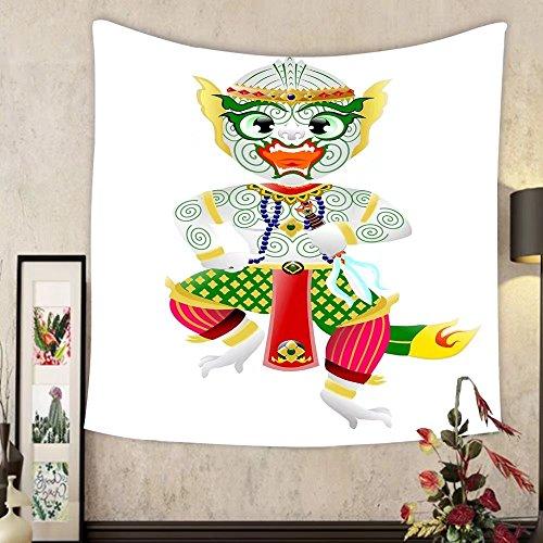 Jacquelyn A. Velasquez Custom tapestry hanuman monkey in thai style by Jacquelyn A. Velasquez