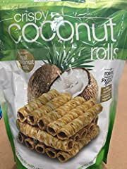2 pack Tropical Fields Crispy Coconut Rolls , Made with Real Coconut Milk Each Net WT 9.3oz (265g),