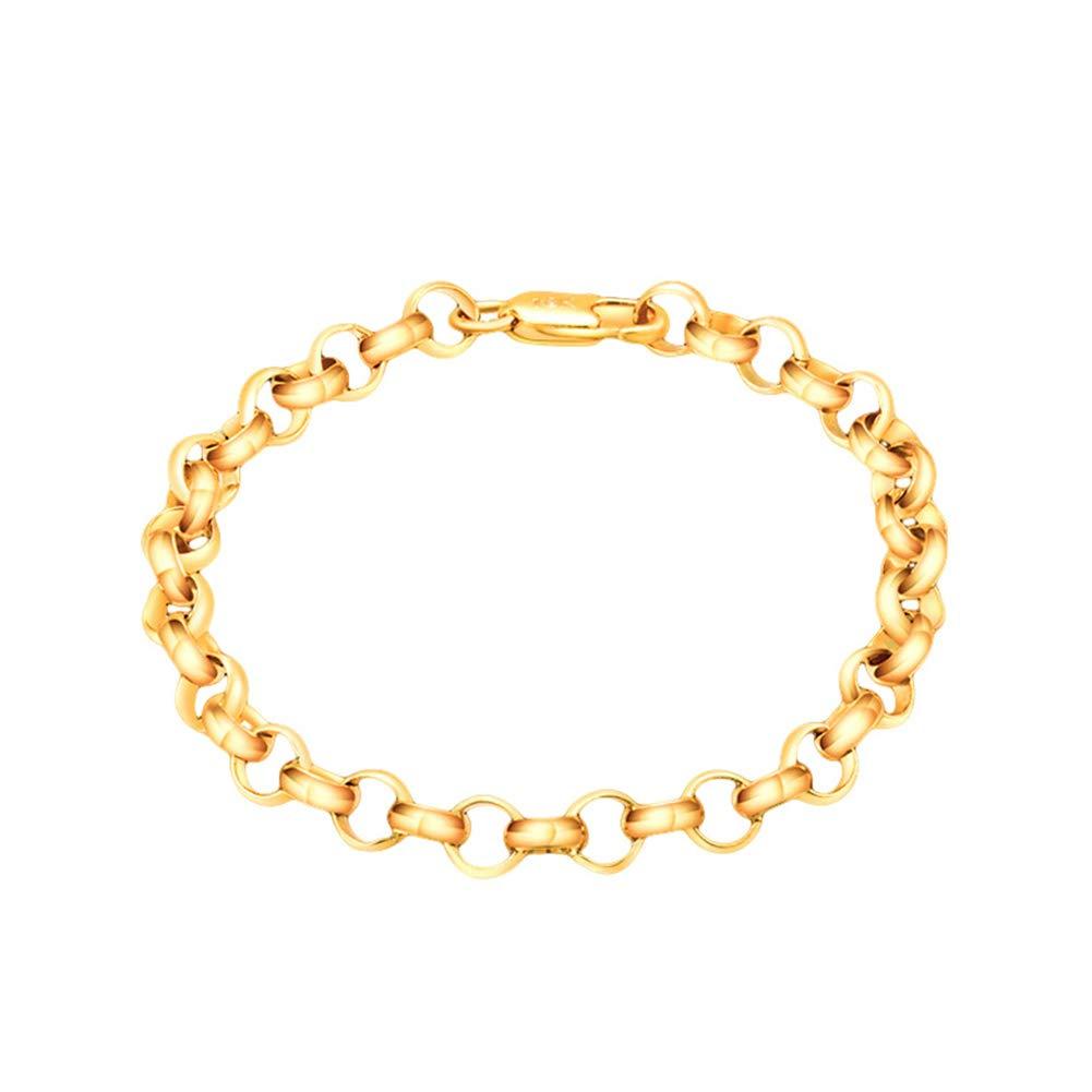 Slendima Chic Circle Interlacing Chain Necklace Bracelet Women Party Club Jewelry Gift Bracelet