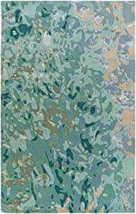 RugPal Contemporary Rectangle Area Rug 8'x10' in Sky Color From Renee Collection
