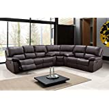 Blackjack Furniture 9389-BROWN-SECT Leather Air, Reclining Sectional, Brown