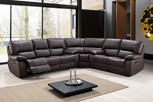 Blackjack Furniture 9389-BROWN-SECT Leather Air, Reclining Sectional, ()