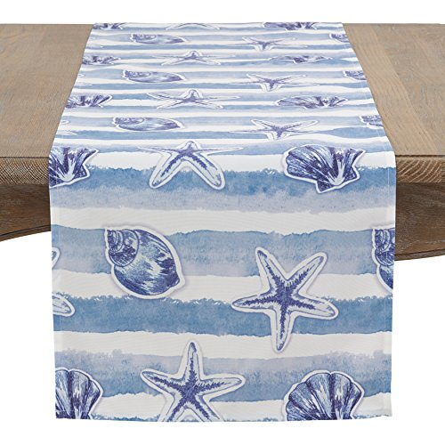 Fennco Styles Watercolor Nautical Blue Tabletop Collection (16