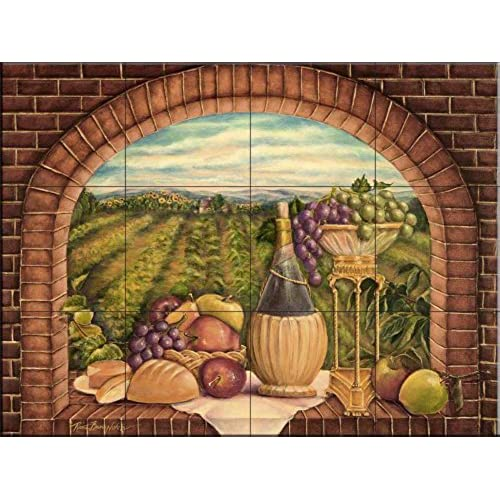 tile murals for kitchen kitchen backsplash mural 6172