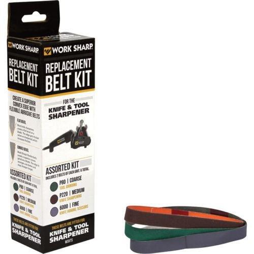 Work Sharp WSSA0002012 Knife and Tool Sharpener Replacement Belt Kit