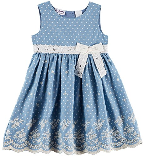 Blueberi Boulevard Toddler Girls Chambray Dress 4T Blue/White (Blueberi Boulevard Dress)