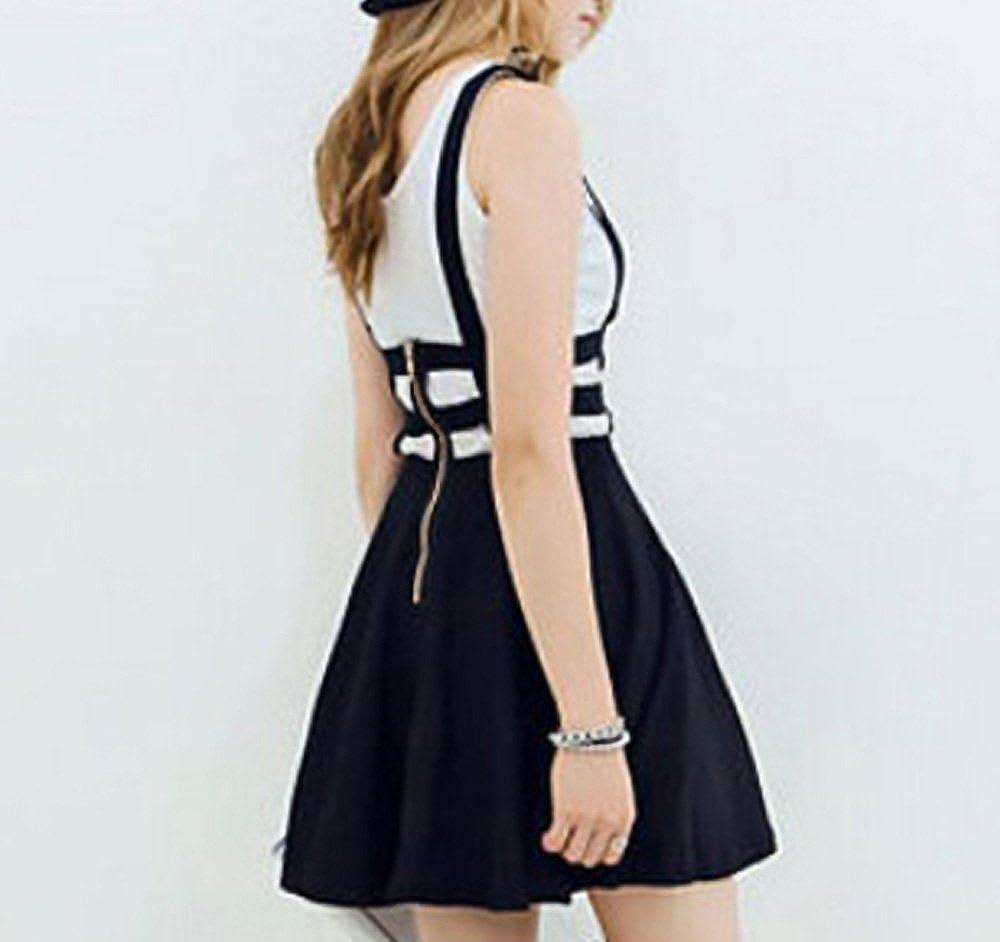 Bluetime Womens Pleated Short Braces Skirt (S-3XL) at  Women's Clothing store