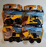 CAT Mini Machine Caterpillar Construction Toy Truck Mini Machine Set of 4, Dump Truck, Bulldozer, Wheel Loader and Excavator Free-Wheeling Vehicle Sand Box Toy Children Cake Toppers Party Favors