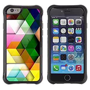 Pulsar iFace Series Tpu silicona Carcasa Funda Case para Apple iPhone 6+ Plus(5.5 inches) , Patrón Polígono colores pastel colorido 3D""
