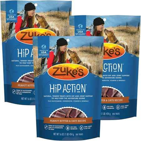 Zuke's Hip Action with Glucosamine and Chondroitin 3 Packs Peanut Butter (3 lb)