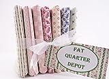 vintage print fabric - Fat Quarter Bundle 7 Red White Blue Shirting Prints Cotton Fabrics