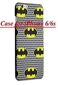 Grey Batman Design Case for iPhone 6/6s Phone, Hard Plastic Cover + Screen Protector Film