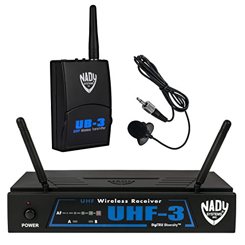 Nady UHF-3 Wireless Lapel/Lavalier Microphone System with True Diversity