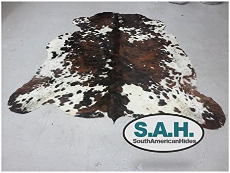 High Quality Cowhide Tricolor Cowhide Rug- XXL 6x8ft 180cm X240cm