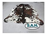 High Quality Cowhide Tricolor Cowhide Rug- XXL 6x8ft(180cm X240cm For Sale