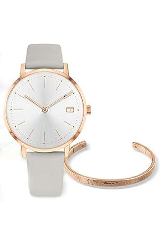 Tommy Hilfiger 2770028 Reloj Mujer +Pulsera Cuarzo Acero Rosé Tamaño 34 mm Correa: Amazon.es: Relojes