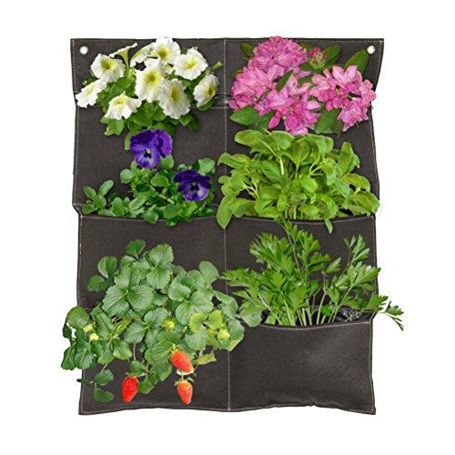 (Coolaroo Vertical Garden 6 Pocket Balcony Planter - Brown)