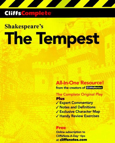 CliffsComplete The Tempest