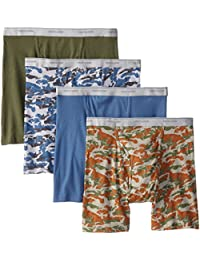 Men`s 4-Pack Print Solid X-Size Boxer Brief
