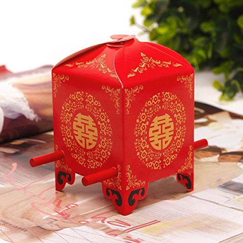 Joinwin® 50psBride sedan chair chinese Wedding Favor Boxes gift box candy box