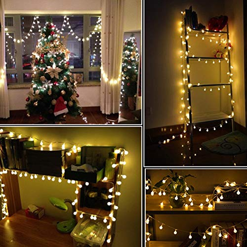 - Twinkle Star 33 FT 100 LED String Lights, Waterproof Ball Lights, 8 Lighting Modes, Fairy Starry String Lights Plug in with Remote Timer for Home Party Wedding Christmas Decoration, Warm White
