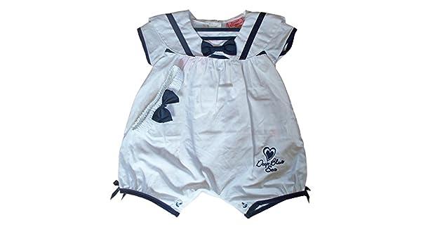 Sweet Elegance bebé niñas blanco verano Pelele de marinero blanco Navy/white Talla:3-6 meses: Amazon.es: Bebé