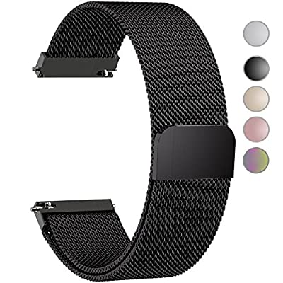 5 Colors for Quick Release Watch Strap, Fullmosa Milanese Magnetic Closure Stainless Steel Watch Band Replacement Strap for 18mm 20mm 22mm 23mm 24mm