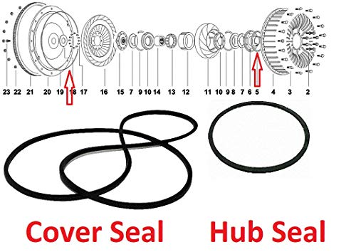Torque Converter O-Ring Seals, Cover & Hub, Bolted for Cruisomatic/Fordomatic 1953-1957