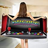 Chaneyhouse Video Games,Baby Bath Towel,Arcade Machine Retro Gaming Fun Joystick Buttons Vintage 80s 90s Electronic,Print Wrap Towels,Multicolor Size: W 10'' x L 39.5''