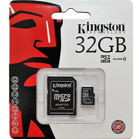 Kingston 32 GB clase 10 tarjeta micro SD con adaptador ...