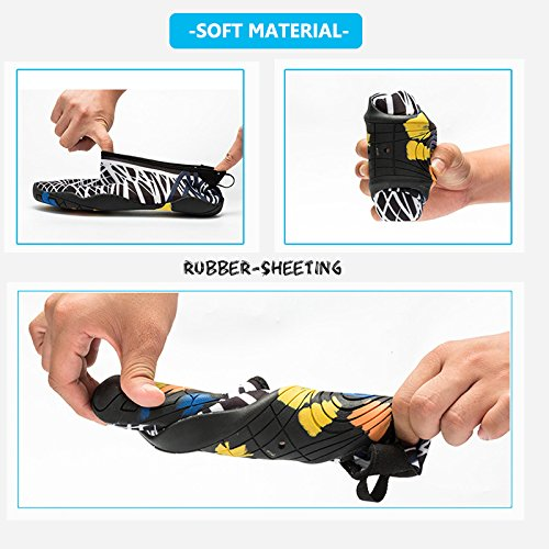 Black Beach Swim Shoes Shoes White Socks Shoes Yoga Water for Quick Dry Aerobics Pool Water Surf Womens Mens Aqua tqwIHUp