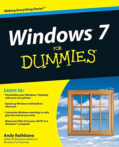 Windows 7 For Dummies (Computer For Dummies Windows 7)