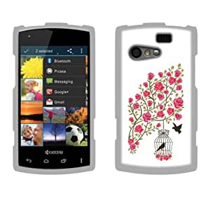 Fincibo (TM) Protector Cover Case Snap On Hard Plastic Front And Back For Kyocera Rise C5155 - Love Story