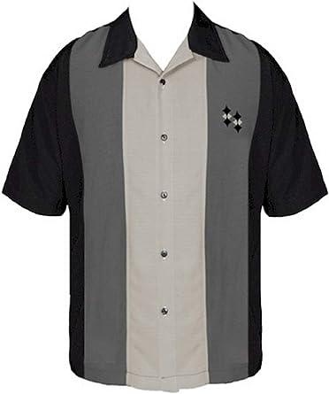 BeRetro - Camisa de Acampada de Manga Corta para Hombre, Color Negro - Negro - 5X-Large: Amazon.es: Ropa y accesorios