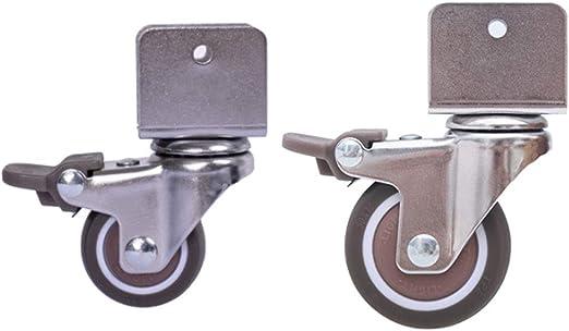 Ruedas para muebles, rueda universal con freno un conjunto de 4 ...