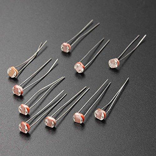 20Pcs 5MM Light Dependent Resistor Photoresistor GL5528 LDR BephaMart BM00001