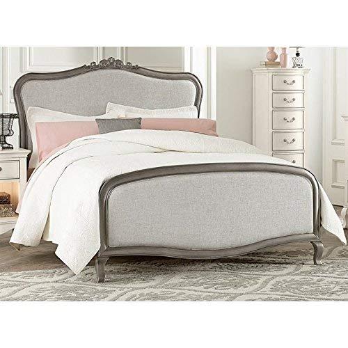 Hillsdale Furniture 30025N Kensington Katherine Upholstered Panel Bed, Full, Antique Silver