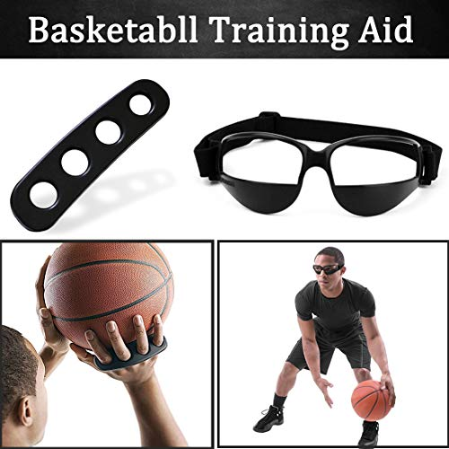 Boaton 3 Sizes Basketball Shooting Training Aid, Dribble Goggles, Basketball Training Equipment Basketball Trainer for Kids, Youth and Adult (L Size)