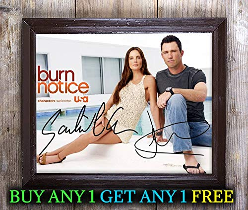 Jeffrey Donovan & Gabrielle Anwar Burn Notice Autographed 8x10 Photo Reprint #24 Special Unique Gifts Ideas Him Her Best Friends Birthday Christmas Xmas Valentines Anniversary Fathers Mothers Day