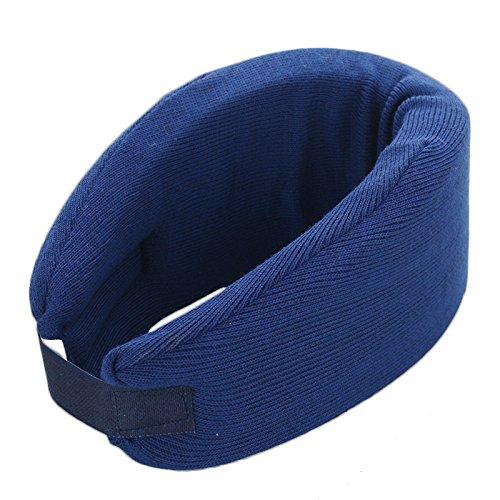 Soft Cervical Neck Collar Adjustable Neck Brace for Neck Pain (M, Blue)