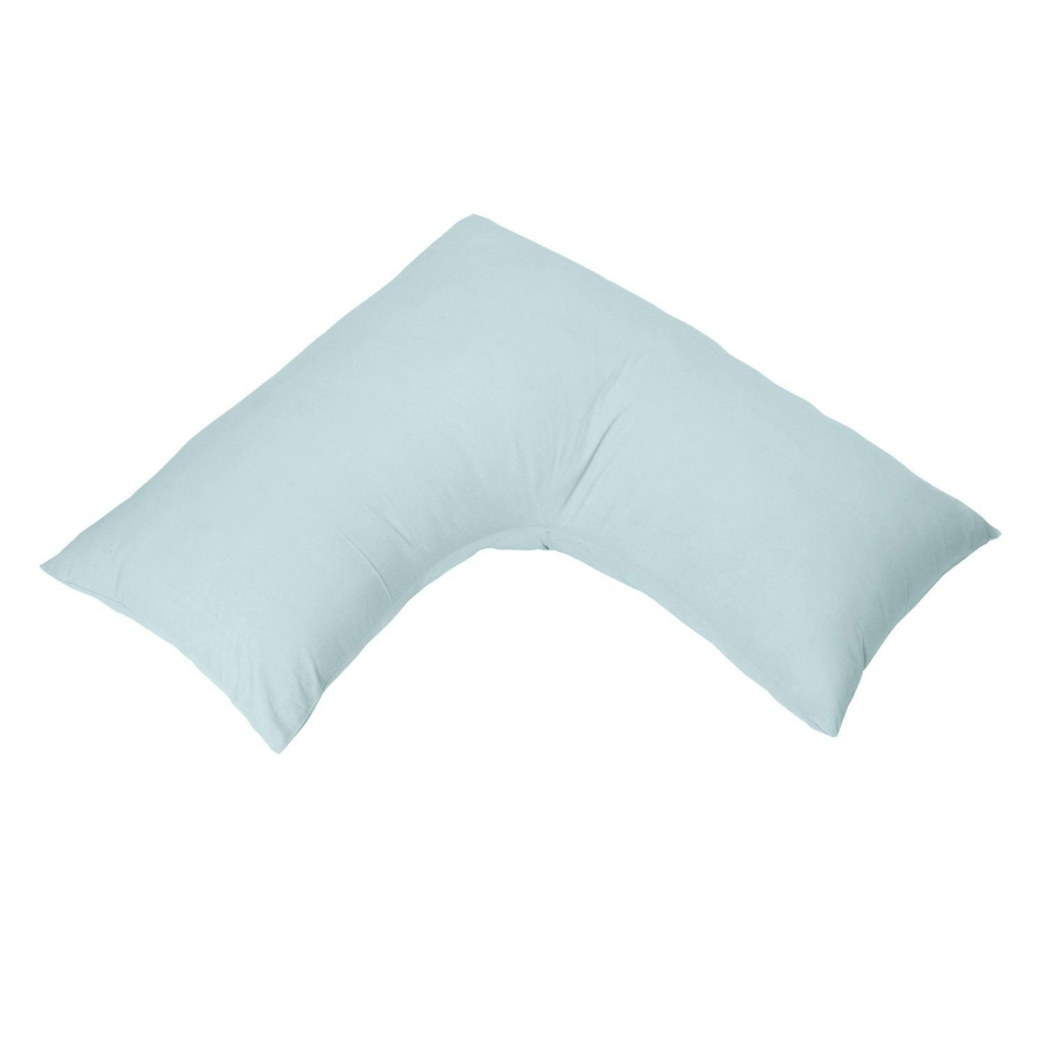 Homescapes Organic Cotton V Shaped Pillowcase White 400 Thread Count Percale Hypoallergenic Bedding for Orthopaedic//Pregnancy//Nursing Pillows