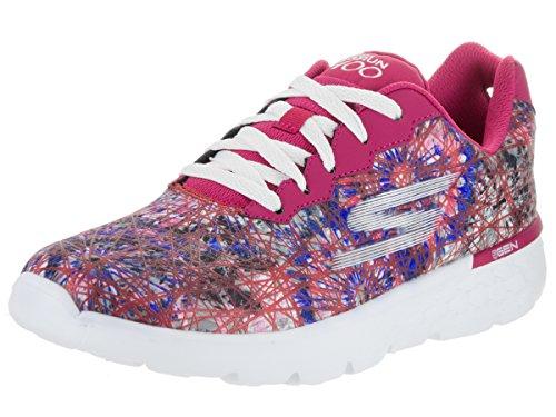 Skechers Go Run 400, Zapatillas de Deporte para Exterior para Mujer Rosado