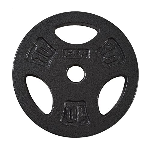 Barbell Standard Grip Plate Black